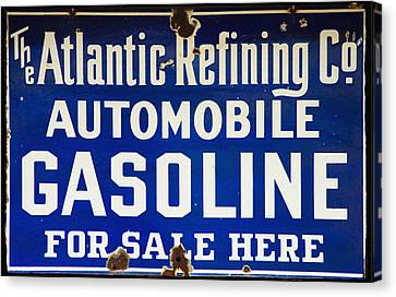 Atlantic Refining Co Sign Canvas Print by Bill Cannon