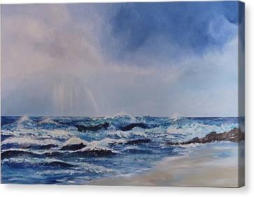 Atlantic Waves Canvas Print by Margaret Denholm
