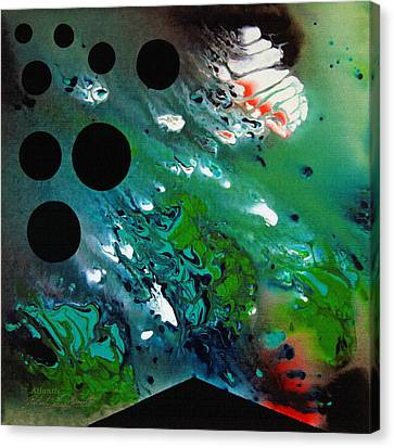 Canvas Print featuring the painting Atlantis by Robert G Kernodle
