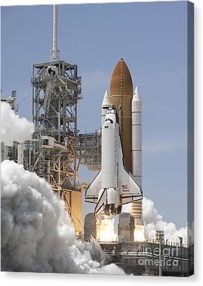 Atlantis Twin Solid Rocket Boosters Canvas Print by Stocktrek Images
