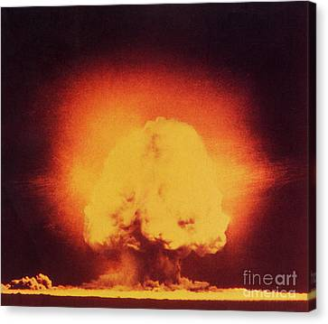 Atomic Bomb Explosion Canvas Print by Science Source
