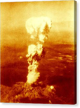 False Power Canvas Print - Atomic Burst Over Hiroshima, 1945 by Us National Archives And Records Administration