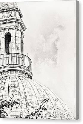 Cityhall Canvas Print - Atop by Lourry Legarde