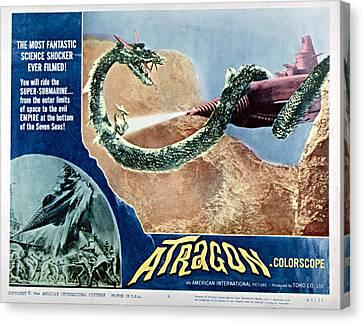 1963 Movies Canvas Print - Atragon, Aka Kaitei Gunkan, 1963 by Everett