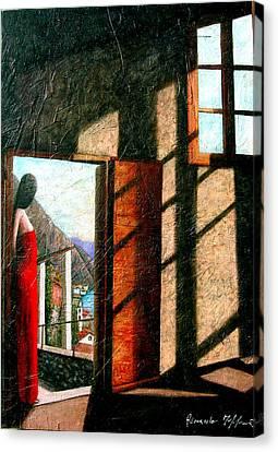 Attesa A Limone Sul Garda Canvas Print
