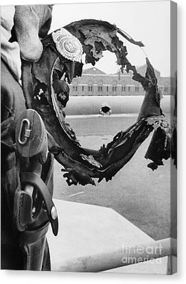 Attica Prison Riot, 1971 Canvas Print by Granger