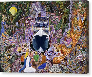 Canvas Print - Atun Supay Lancha by Pablo Amaringo