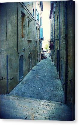 Auch-small Street Canvas Print by Sandrine Pelissier