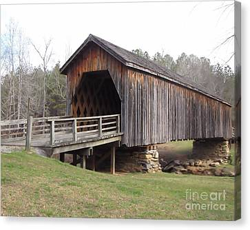 Auchumpkee Creek Bridge Canvas Print by Michelle H