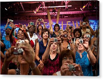 Audience Members Of The Television Show Canvas Print