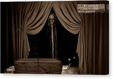 Curtains Canvas Print - Audience Volunteers Wanted - S by David Dehner