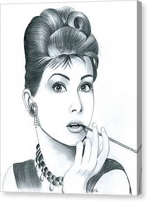 Audrey Hepburn Canvas Print by Crystal Rosene