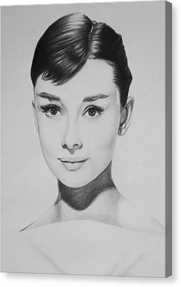 Audrey Hepburn Canvas Print by Steve Hunter