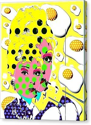 Audrey Canvas Print by Ricky Sencion