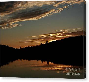 August Lake Sunset Canvas Print by Donna Cavanaugh
