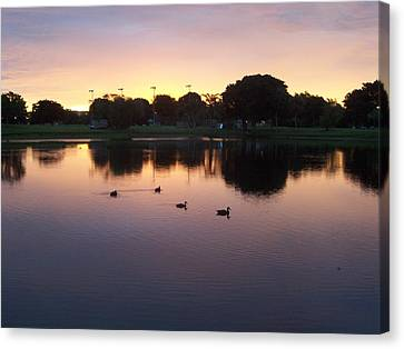 Canvas Print featuring the photograph August Sunset by Sheila Silverstein
