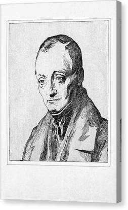 Auguste Comte, French Philosopher Canvas Print by Humanities & Social Sciences Librarynew York Public Library
