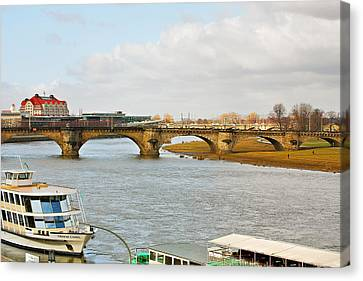 Augustus Bridge Dresden Germany Canvas Print by Christine Till