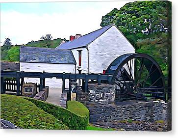 Canvas Print featuring the photograph Auld Mill  by Charlie and Norma Brock
