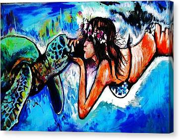 Aumakua Canvas Print by Kimberly Dawn Clayton