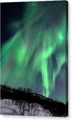 Aurora Borealis Corona Canvas Print by John Hemmingsen