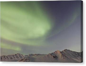Auroras Over Mountains Canvas Print by Tim Grams