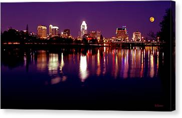 Austin Sky Line In December 2004 Canvas Print by Lisa  Spencer