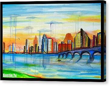 Austin Texas Canvas Print by Jose J Montee Montejano