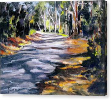 Canvas Print featuring the painting Australia Revisited 3 by Rae Andrews