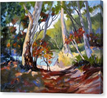 Canvas Print featuring the painting Australia Revisited by Rae Andrews