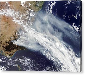 Australian Bush Fire Smoke Canvas Print by Nasa