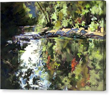 Canvas Print featuring the painting Australian Escape by Rae Andrews