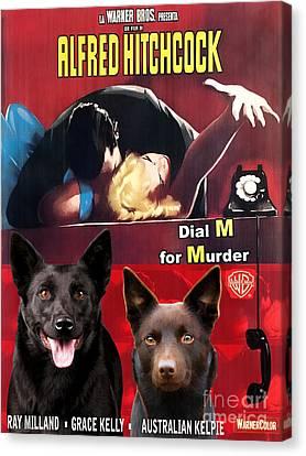 Australian Kelpie - Dial M For Murder Movie Poster Canvas Print