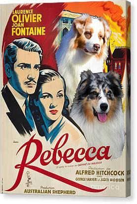 Australian Shepherd Art - Rebecca Movie Poster Canvas Print