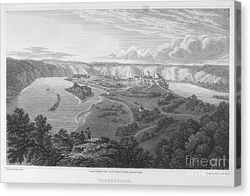 Austria: Wasserburg, 1821 Canvas Print by Granger