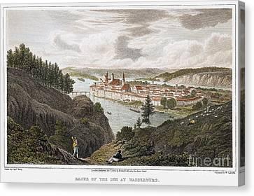 Austria: Wasserburg, 1822 Canvas Print by Granger