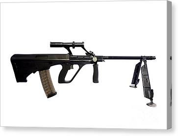 Austrian 5.56mm Steyr Aug Light Support Canvas Print by Andrew Chittock