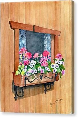 Austrian Window Canvas Print by Jean White