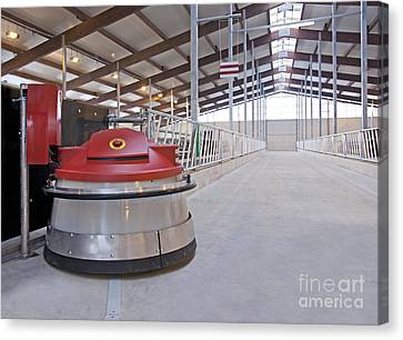 Automated Feed Pusher Canvas Print