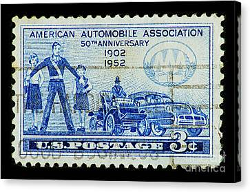 Canvas Print featuring the photograph Automobile Association Of America by Andy Prendy