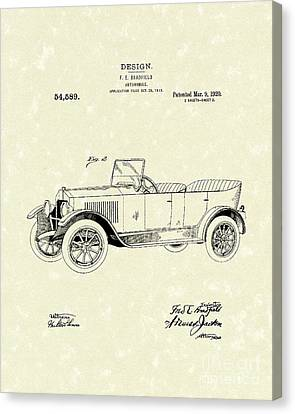 Automobile Bradfield 1920 Patent Art  Canvas Print by Prior Art Design