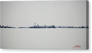 Autum Skyline Canvas Print