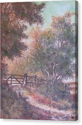Autumn - Gate To Nowhere IIi Canvas Print