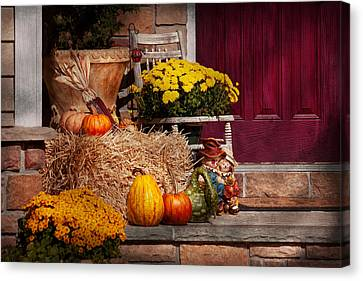 Autumn - Gourd - Autumn Preparations Canvas Print by Mike Savad