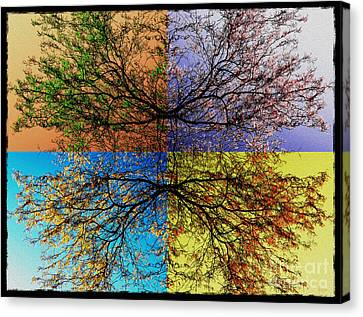 Autumn Abstract Canvas Print by Jeff Breiman