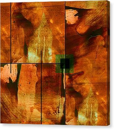 Autumn Abstracton Canvas Print by Ann Powell