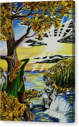 Autumn Archer Canvas Print by Robert Thornton