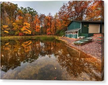 Autumn At Big Boulder Lake Canvas Print