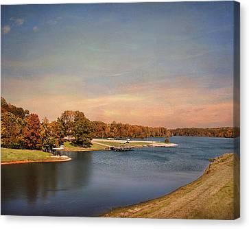 Autumn At Lake Graham 2 Canvas Print by Jai Johnson