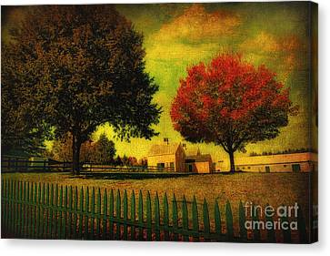 Autumn At The Farm Canvas Print by Gina Cormier